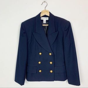 VINTAGE CHRISTIAN DIOR Double Breasted Blazer 8